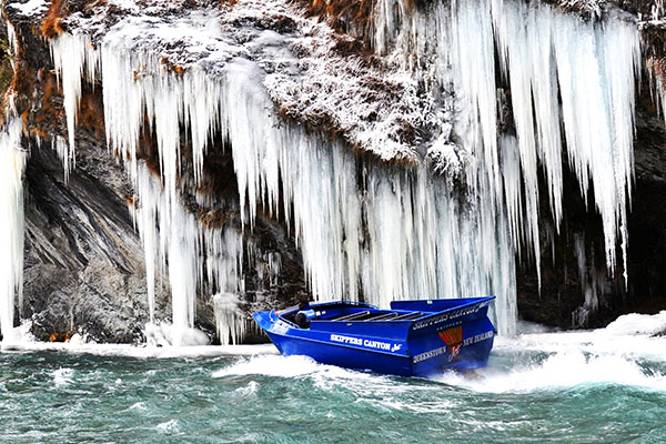 Skippers Canyon Jet winter ice